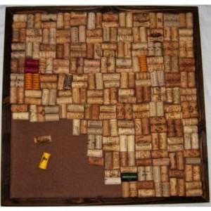 Flange Wine Cork Board