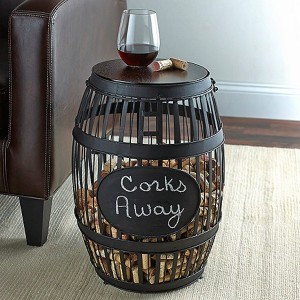 wine-gifts-barrel-cork-catcher-accent-table-wine-enthusiast-w901301-31