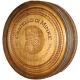 Barrel Head Carving Sign, Golden Oak