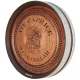 Barrel Head Carving Sign, Red Oak