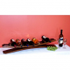 7 Bottle Stave Display, Pine Finish