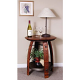 Wine Barrel Side Table, Pine Finish
