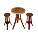 Stools purchased separately