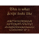 Script Font Gold