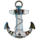 Nautical Anchor Wine Gift for Cork Collectors