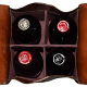 Soft unfinished interior cradles your bottles
