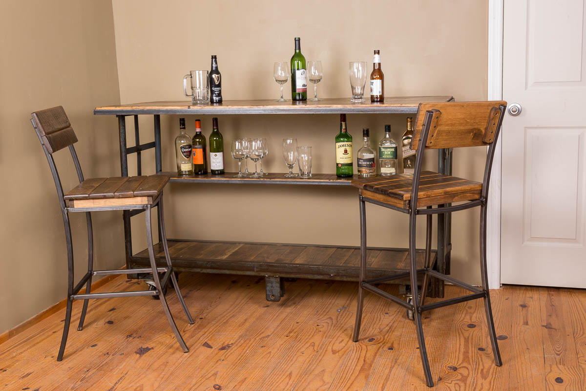 Vintage Cart Rolling Bar With Shelf Hand Made In The Us