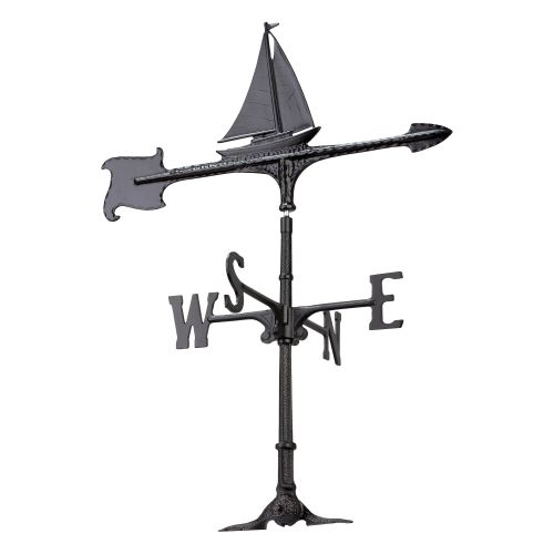 "30"" Sailboat Accent Weathervane, Black"