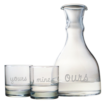 Yours, Mine, And Ours, 3-Piece, Carafe  Set