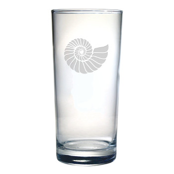 Nautilus Shell Hiball Glass, 15Oz., S/4