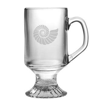 Footed Mug, 10Oz., Nautilus Shell, S/4