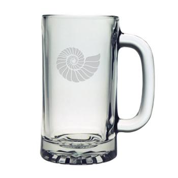 Nautilus Shell, Pub Beer Mugs, 16Oz,  S/4