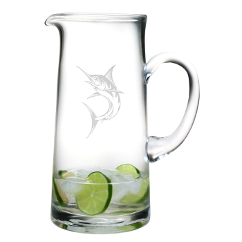 Marlin Etched Tankard Pitcher