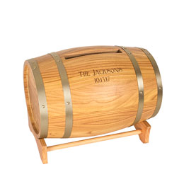 Personalized Wine Barrel Reception Gift Card Holder