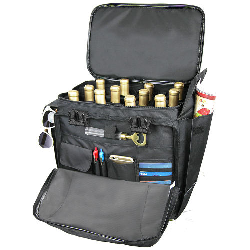 12 Bottle Wine Luggage with 360 Rolling Wheels