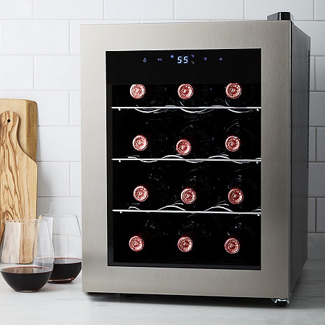 Wine Enthusiast Silent 12 Bottle Wine Refrigerator (Seamless Stainless Steel Door)