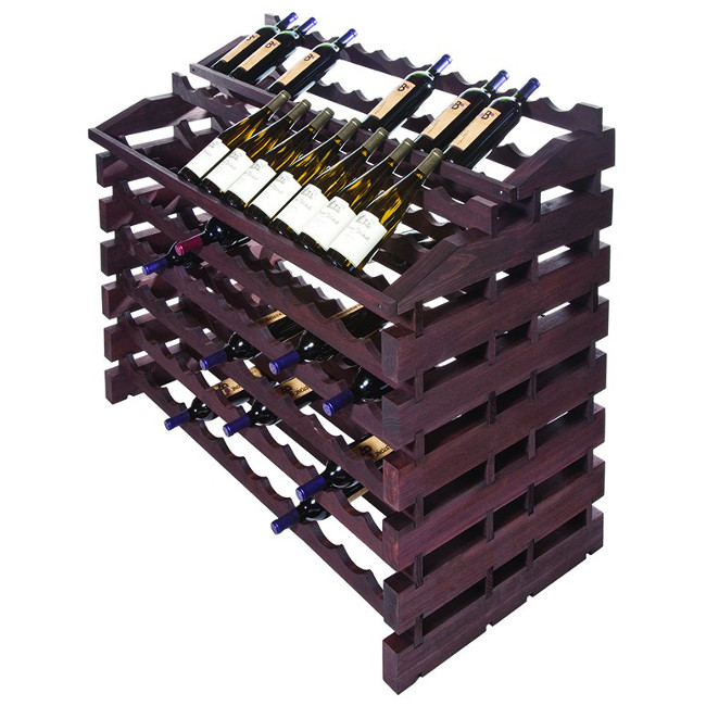 156 Bottle Waterfall Style Modular Wine Rack - Stained