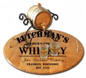 'Whiskey Design' Personalized Barrel Head Serving Tray