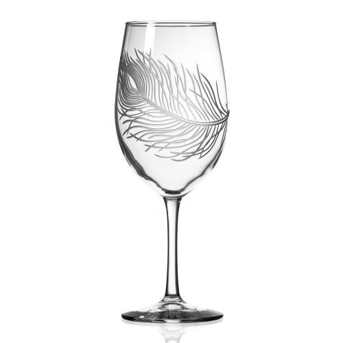 Peacock AP Wine Glasses 18 oz Set of 4