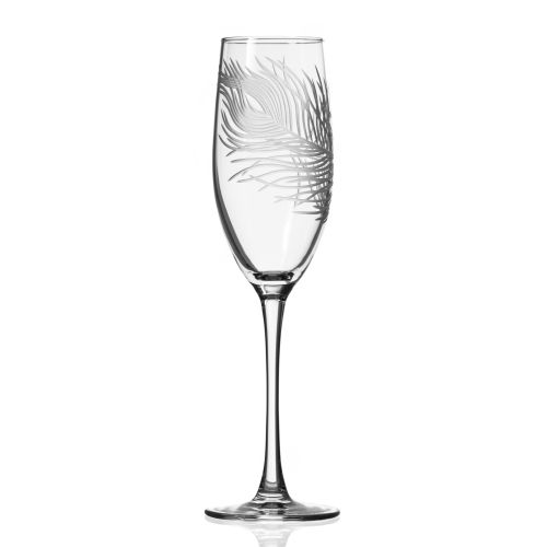 Peacock Champagne Flute 8 oz (set of 4)