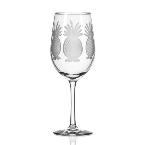 Pineapple White Wine Glasses 12 oz Set of 4
