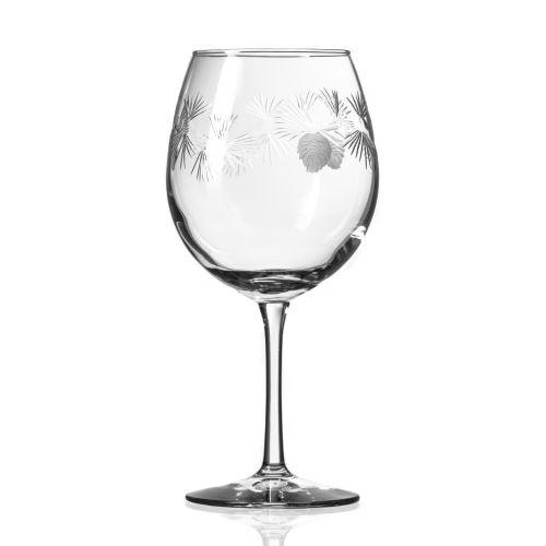 Icy Pine Balloon Wine Glasses 18 oz Set of 4