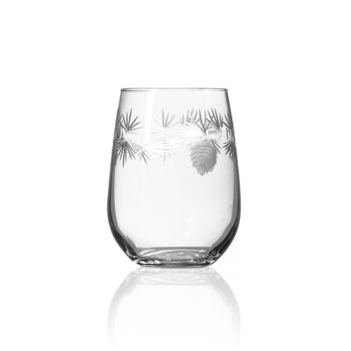Icy Pine Stemless Glasses 17 oz Set of 4