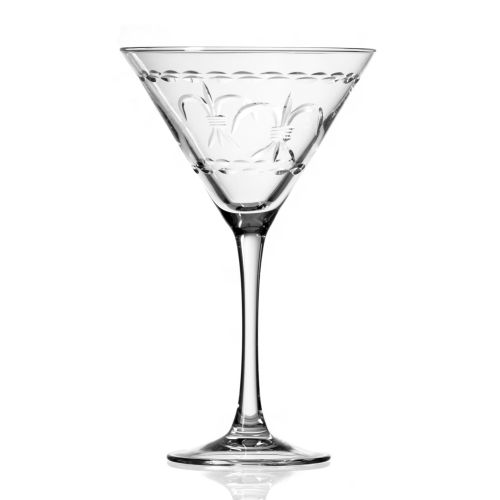 Fleur De Lis Martini 10 oz Set of 4