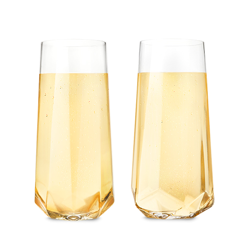 Faceted Crystal Champagne Glass (Set of 2)