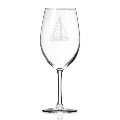 Sailboat AP Wine Glasses 18 oz Set of 4