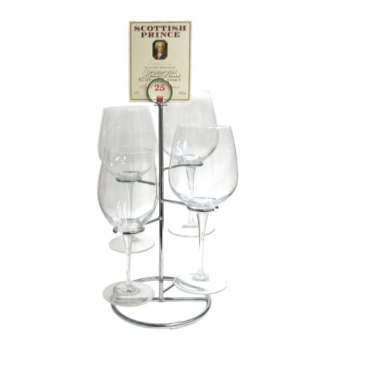 Deluxe Four Glass Tiered Flight Holder