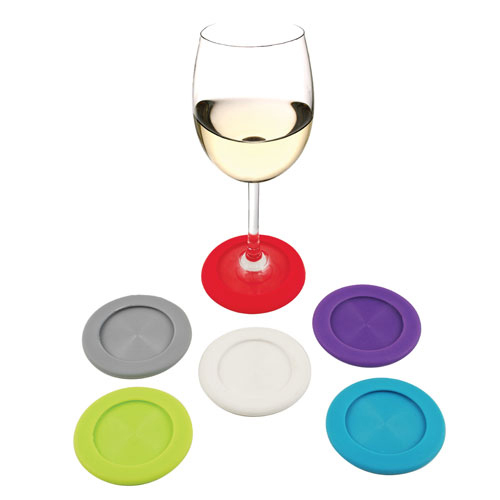 Slip-On: Silicone Coaster Charms (Set of 6)