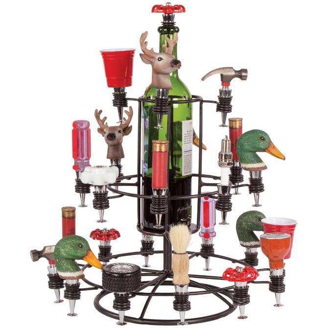 24 Wine Stopper Display Carousel