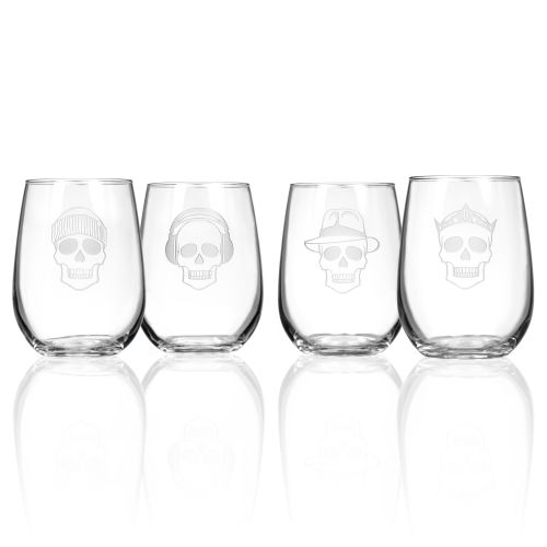 Numbskulls Stemless Glasses 17 oz Set of 4