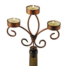 Chateau: Wine Bottle Candelabra