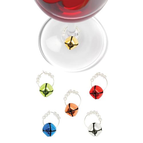 Jingle Holiday Wine Charms (Set of 6 )
