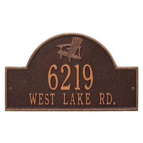 Personalized Adirondack Arch Plaque, Antique Copper