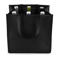 6 Bottle Non Woven Tote In Black