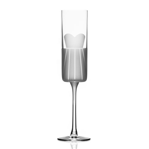 Wedding Cheers Series 1 (dress/tux) Champagne Flute 5.75 oz Set of 2
