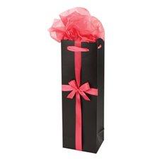 Black and Pink Wine Gift Bag