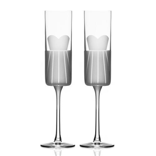 Wedding Cheers Series 1 (dress/dress) Champagne Flute 5.75 oz Set of 2