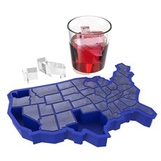 U Ice of A Ice Blue Silicone Cube Tray Zoo