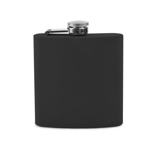 Black Soft Touch Flask