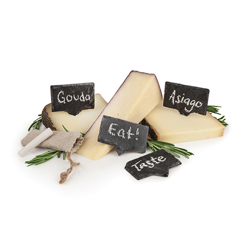 Rustic Farmhouse Slate Cheese Markers by Twine