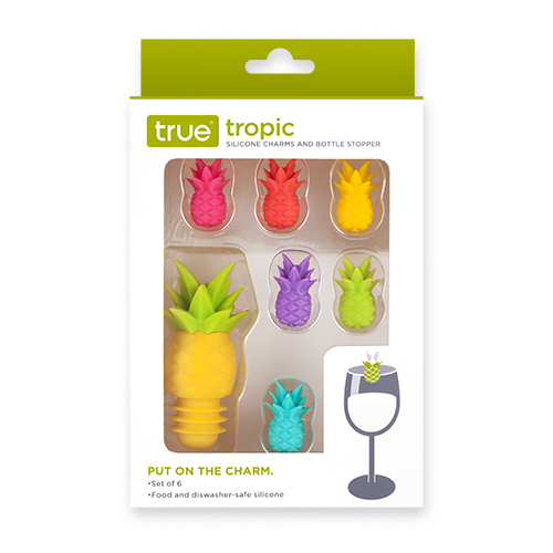 Tropic Silicone Charms And Bottle Stopper