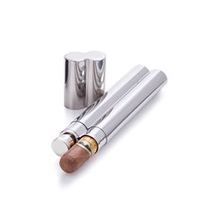 Admiral Stainless Steel Cigar Holder and Flask by Viski