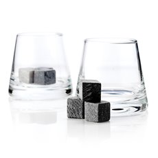 Glacier Rocks Soapstone Cube and Tumbler Set by Viski