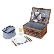 Seaside Newport Wicker Picnic Basket by Twine