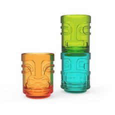 Tiki Trio Shot Glasses in Assorted Colors Zoo