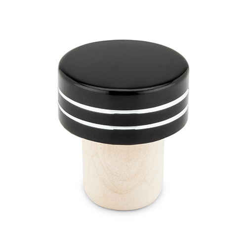 Black Metallic Bottle Stoppers